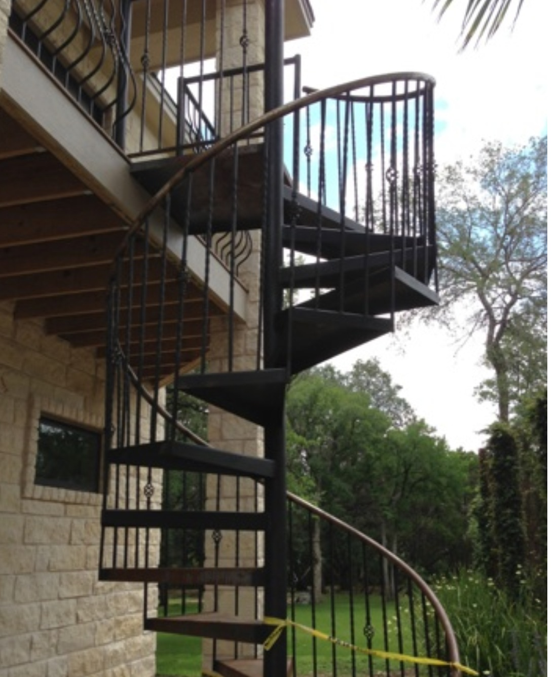 Attractive Spiral Staircase. North Atlanta Steel.